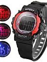 Дети Спортивные часы электронные часы LED Кварцевый Цифровой Pезина Группа Черный