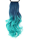 Excellent Quality Synthetic 18 Inch Long Wavy Gradient Ribbon Ponytail Hairpiece - 8 Colors Available