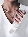 Women\'s Choker Necklaces Pendant Necklaces Tattoo Choker Alloy Tattoo Style Fashion Golden Jewelry Party Daily Casual 1pc