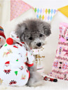 Dog Hoodie White / Purple Winter Christmas Casual/Daily, Dog Clothes / Dog Clothing
