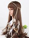 Bohemia simples contas de penas das mulheres tecem headbands 1 peca