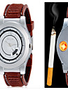 남성 패션 시계 손목 시계 독특한 창조적 인 시계 석영 라이터 합금 밴드 캐쥬얼 창의적 블랙 브라운
