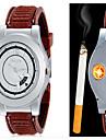 Men\'s Fashion Watch Wrist watch Unique Creative Watch Lighter Quartz Alloy Band Casual Unique Creative Black Brown
