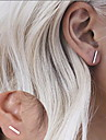 Stud Earrings Basic Fashion Simple Style Alloy Line Black Silver Golden Jewelry For Party Special Occasion Birthday Daily Casual 1 Pair