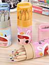 Cartoon 12 Color Pencil Sharpener Ribbon Suit Korean Stationery