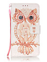 3D Painted Owl Pattern PU Material Phone Case for Galaxy J3/J310/J5/J510/G360/G530