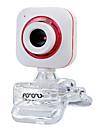 USB 2.0 de webcam CMOS 0.5m 640x480 30fps vermelho / roxo