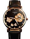 Women\'s Fashion Quartz Wrist Casual Watch PU Belt Round Alloy Flower Dial(Assorted Colors) Watch Cool Watch Unique Watch
