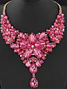 Жен. Заявление ожерелья Длинные ожерелья В форме цветка Драгоценный камень Резина Мода европейский Pоскошные ювелирные изделия Elegant