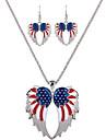 могут попка в Соединенных Штатах и Европе Соединенные Штаты и Соединенных Штатах флаг крыло ангела ожерелье серьги