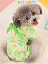 Dog Pajamas Dog Clothes Cute Casual/Daily Cartoon Yellow Green Blushing Pink