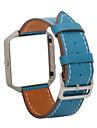 Noir / Bleu / Marron Cuir Boucle Classique Pour Fitbit Regarder 23mm