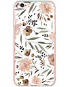 Para iPhone X iPhone 8 iPhone 6 iPhone 6 Plus Case Tampa Antichoque Anti-poeira Estampada Capa Traseira Capinha Flor Rigida PC para Apple