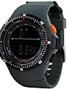 Hombre Reloj Deportivo / Reloj de Moda / Reloj de Pulsera DigitalLED / Calendario / Resistente al Agua / Dos Husos Horarios / alarma /