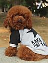 Коты / Собаки Плащи Красный / серый Одежда для собак Зима / Весна/осень Буквы и цифры На каждый день
