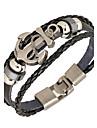 Bracelet Bracelets en cuir Alliage Cuir Forme Ronde Style Punk Quotidien Decontracte Regalos de Navidad Bijoux Cadeau Brun,1pc