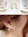 Double Ball Diamond Earrings