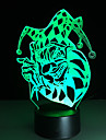 1pc tactile 3 d conduit colore lampe vision changement de lampe atmosphere cadeau de bureau couleur lumiere de nuit