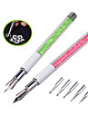 1pcs Nal Art Design Pen with 5pcs Dotting Heads Rhinestone Nail Painting Drawing Line Nail Beauty Decoration Tools