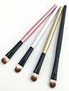 4PCS Professional Multi-color Wood Handle Aluminum Tube Nylon Hair Eyeshadow/Eyebrow Brush Set(12.5cmx4)