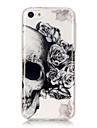 Pour iPhone X iPhone 8 iPhone 6 iPhone 6 Plus Etuis coque IMD Ultrafine Transparente Motif Coque Arriere Coque Cranes Flexible PUT pour