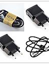 En USB-port Laddningskit EU-kontakt Home Charger / Portable Charger med kabel för Mobil / Efter Övrigt Pad / Smart klocka Fast Charger(5V