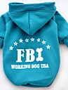 Cat / Dog Hoodie Red / Yellow / Blue / Black Dog Clothes Winter / Spring/Fall Letter & Number Casual/Daily / Sports