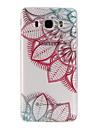 Painted Flower Pattern  Transparent TPU Material Phone Case for Samsung Galaxy J3(2016) J5(2016) J7(2016)