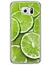 Lemon Fruit Pattern Soft Ultra-thin TPU Back Cover For Samsung GalaxyS7 edge/S7/S6 edge/S6 edge plus/S6/S5/S4