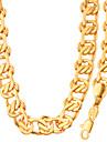 Fashion Jewelry Simple Unique Design 18K Gold/Platinum Plated Necklace&Bracelet Set For Men Or Women GiftNB60091