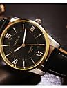 YAZOLE Мужской Нарядные часы Фосфоресцирующий Кварцевый Кожа Группа Черный Коричневый