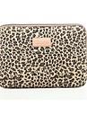 ordinateur portable classique leopard portable manchon sac ordinateur portable cas sac de doublure de capot antichoc 15,6 pouces