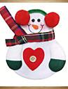 6pcs Xmas Декор держатель прекрасный снеговика кухня посуда карман обеда ножевые мешок рождества партии стол