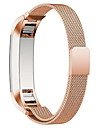 Preta / Rose / Dourada / Prateada Aco Inoxidavel / Metal Pulseira Estilo Milanes Para Fitbit Assistir 10mm