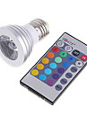 3W RGB Lamp Color Infrared Remote Control Dimming LED Lighting(AC 85-265V)