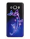 Painted Butterfly Pattern  Transparent TPU Material Phone Case for Samsung Galaxy J3(2016) J5(2016) J7(2016)