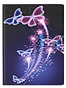 Butterfly Painted PU Leather Material Flat Bracket for  iPad mini321 iPad mini4