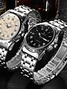 BOSCK® Men's  Automatic Mechanical Hollow Dial Luminous Calendar Silver Gold Steel Band Wrist Watch