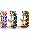 Beadia 1Pc Bronze Anchor & Hook Bracelet Multilayer Warp Rope Cord Bracelet Christmas Gifts