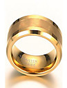 Band Rings Statement Rings Gold Plated Tungsten Steel 18K gold Jewelry Fashion Golden Jewelry Daily Casual 1pc