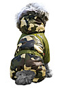 Cat Dog Coat Hoodie Outfits Dog Clothes Winter Camouflage Fashion Keep Warm Windproof Brown Red Green Blue Pink