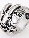 Классические кольца Сплав В форме черепа Мода Винтаж Заявление ювелирные изделия Серебряный Бижутерия Для вечеринок Повседневные 1шт