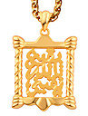 Fashion Jewelry 18K Gold Plated Chain Pendant Necklace For men P30171