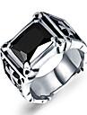 Классические кольца Титановая сталь Крестообразной формы Прочный Мода Винтаж Панк Крест По заказу покупателя Серебряный с черным Бижутерия