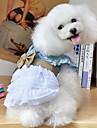 Dog Dress Blue Dog Clothes Summer / Spring/Fall Bowknot Holiday / Fashion