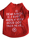 Dog Shirt / T-Shirt / Hoodie Red Dog Clothes Winter / Spring/Fall Letter & Number Halloween / Christmas
