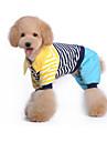 Собаки Комбинезоны Синий / Розовый Одежда для собак Зима / Весна/осень Полоски Милые / На каждый день