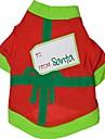 Cat Dog Shirt / T-Shirt Dog Clothes Summer Color Block Holiday Christmas Black Green