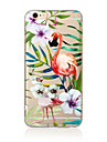 Pour Coque iPhone 7 Coque iPhone 6 Coque iPhone 5 Translucide Motif Coque Coque Arriere Coque Animal Flexible PUT pour AppleiPhone 7 Plus