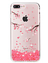 Pour Coque iPhone 7 Coques iPhone 7 Plus Strass Transparente Coque Coque Arriere Coque Fleur Flexible PUT pour AppleiPhone 7 Plus iPhone